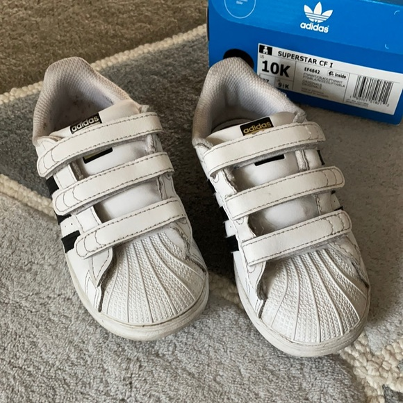 Adidas Superstar Velcro Sneakers w/ Box size 10